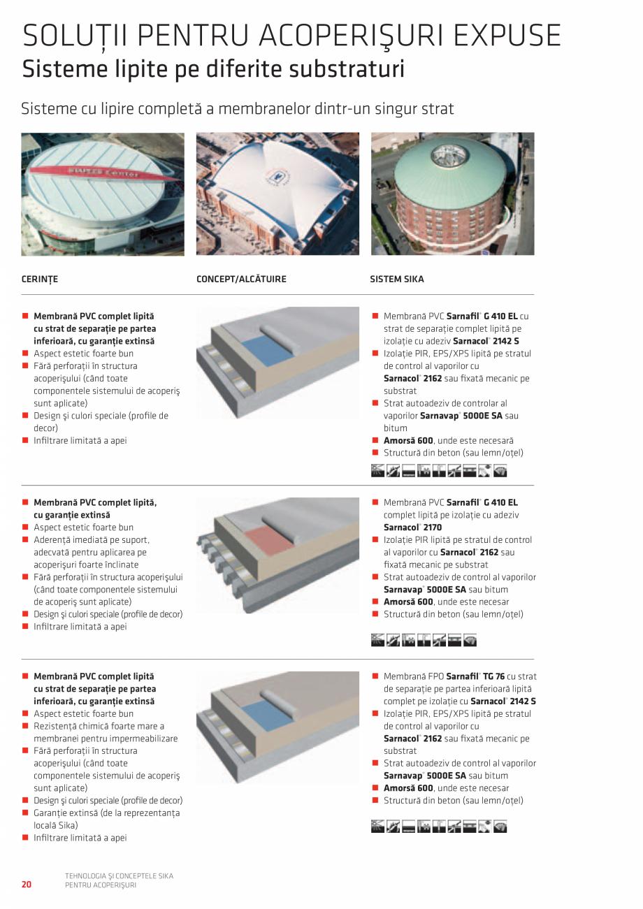 Pagina 20 - Tehnologia si conceptele SIKA pentru acoperisuri  Catalog, brosura Romana  temperaturi...