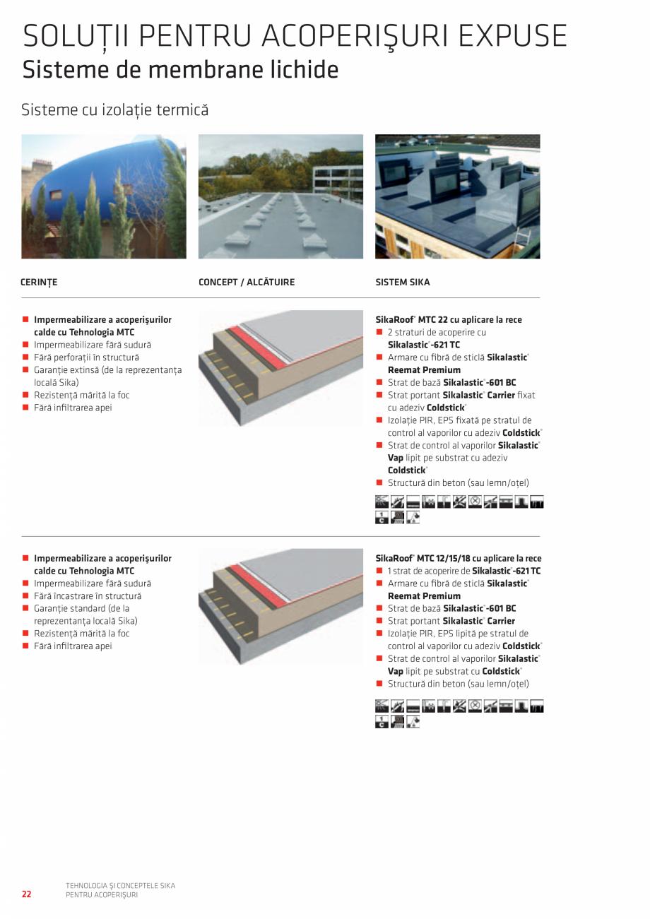 Pagina 22 - Tehnologia si conceptele SIKA pentru acoperisuri  Catalog, brosura Romana Strat de...