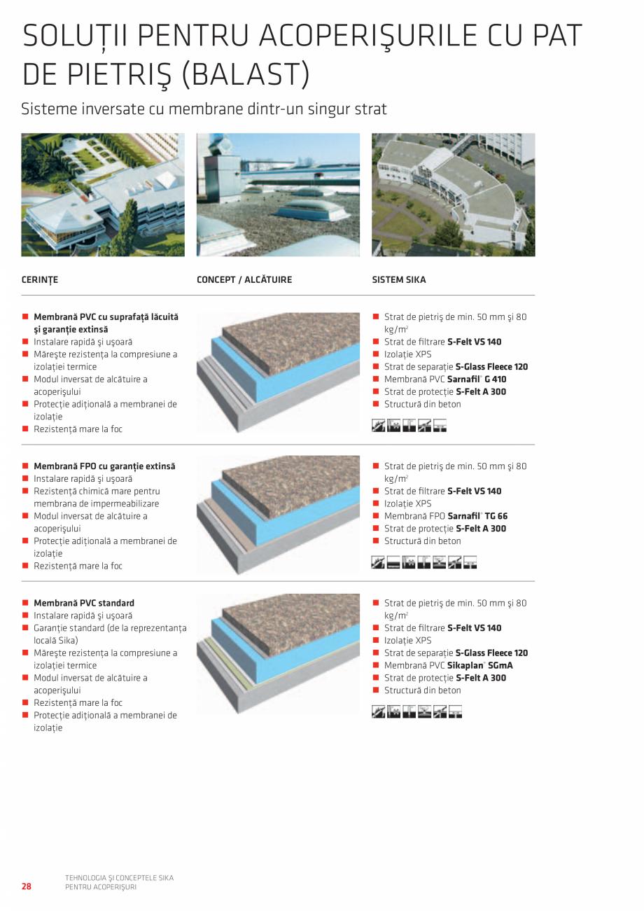 Pagina 28 - Tehnologia si conceptele SIKA pentru acoperisuri  Catalog, brosura Romana oraţii în...