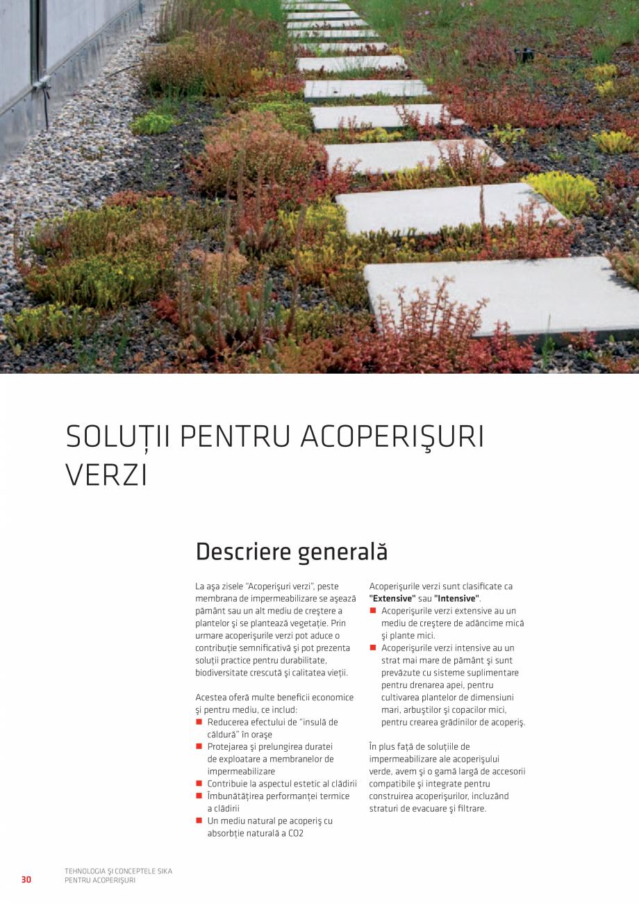 Pagina 30 - Tehnologia si conceptele SIKA pentru acoperisuri  Catalog, brosura Romana  vaporilor cu ...