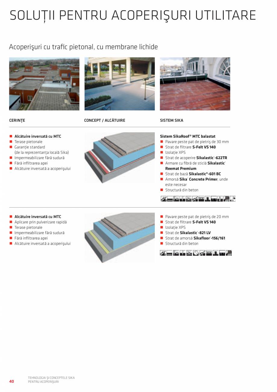 Pagina 40 - Tehnologia si conceptele SIKA pentru acoperisuri  Catalog, brosura Romana tenţă mare...