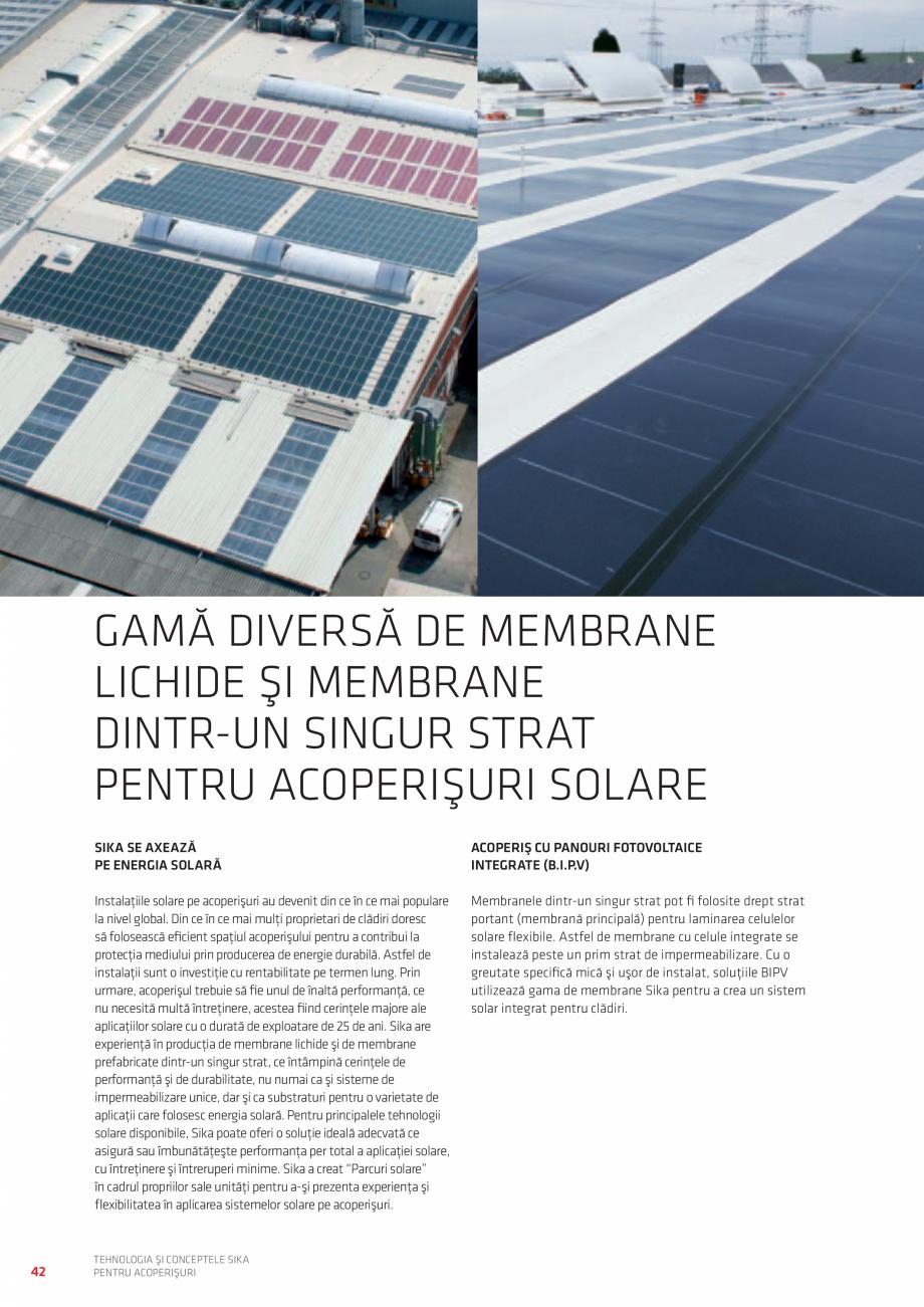 Pagina 42 - Tehnologia si conceptele SIKA pentru acoperisuri  Catalog, brosura Romana �Strat de...