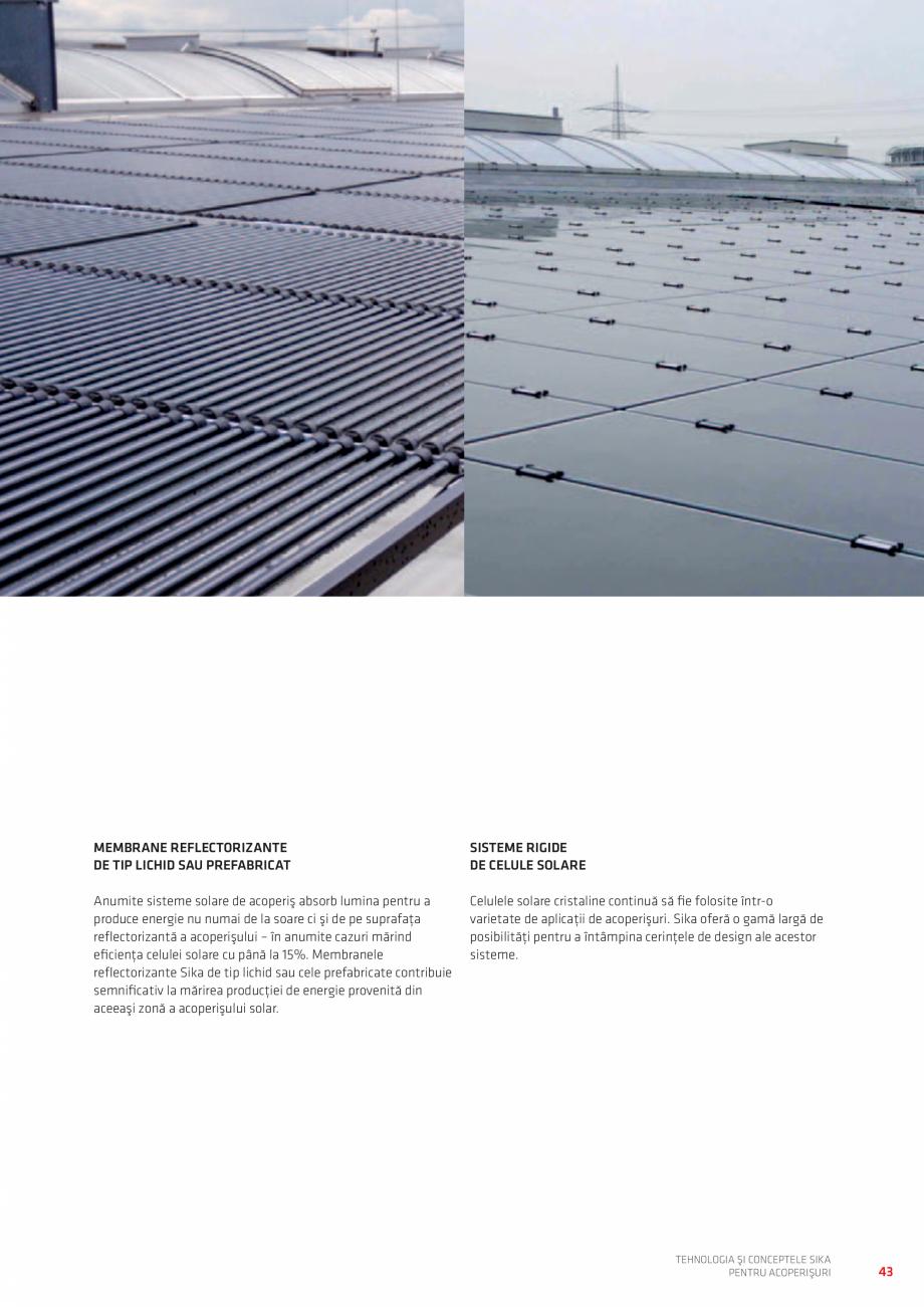 Pagina 43 - Tehnologia si conceptele SIKA pentru acoperisuri  Catalog, brosura Romana re rapidă...