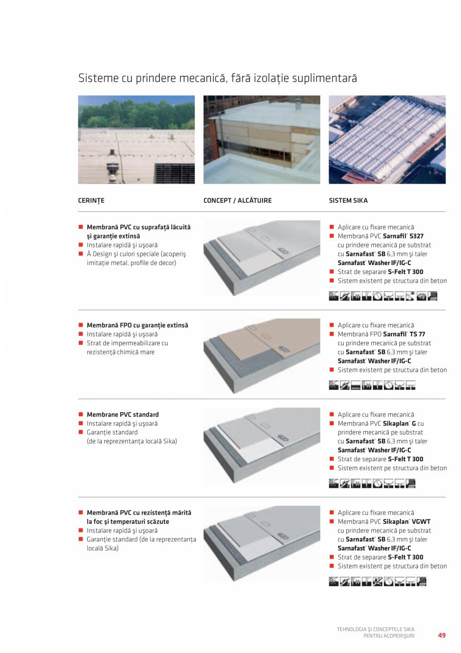 Pagina 49 - Tehnologia si conceptele SIKA pentru acoperisuri  Catalog, brosura Romana - Drainage...