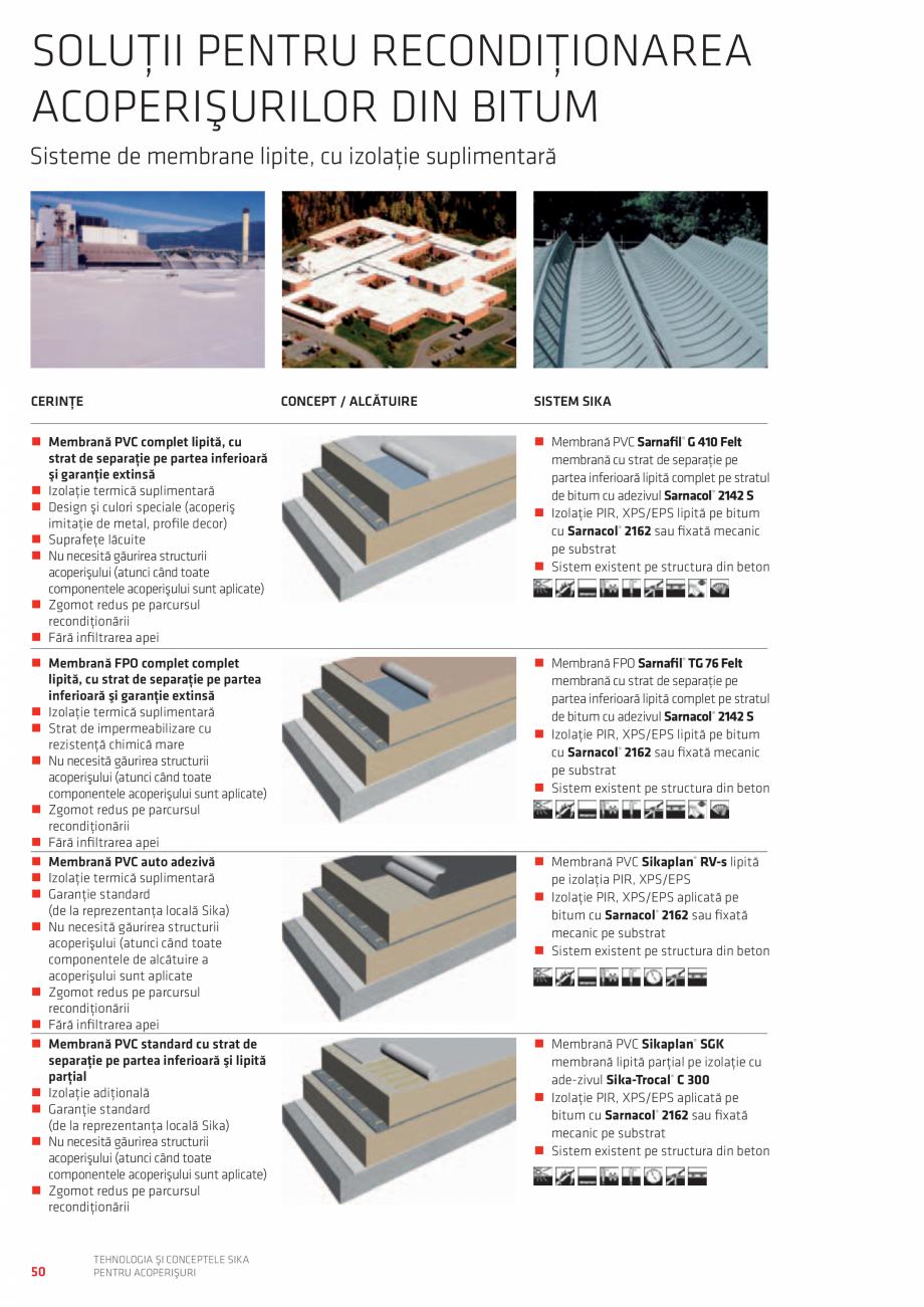 Pagina 50 - Tehnologia si conceptele SIKA pentru acoperisuri  Catalog, brosura Romana ră...