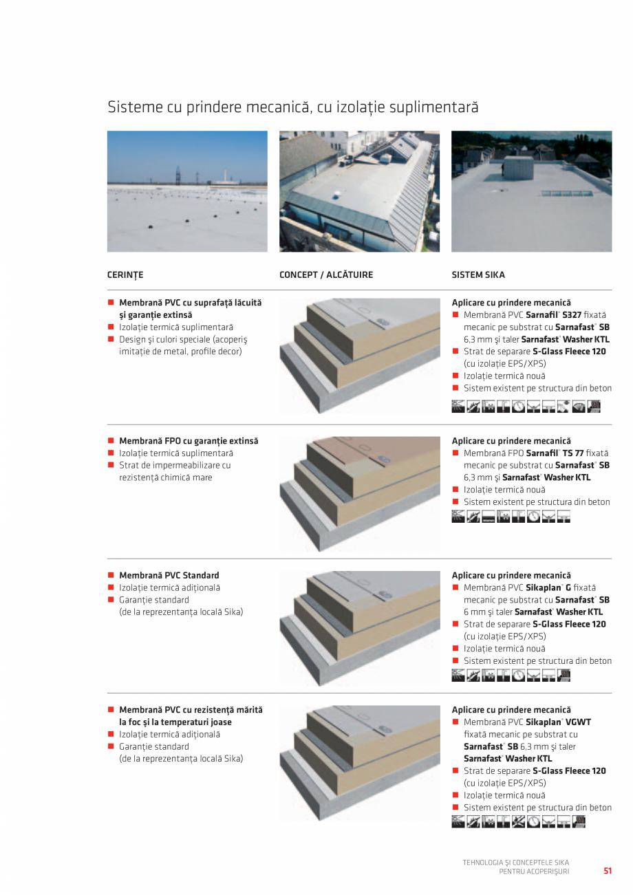Pagina 51 - Tehnologia si conceptele SIKA pentru acoperisuri  Catalog, brosura Romana lizare fără ...