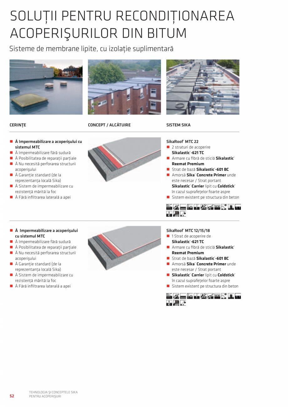 Pagina 52 - Tehnologia si conceptele SIKA pentru acoperisuri  Catalog, brosura Romana age Layer 30...