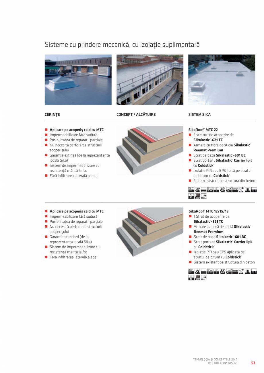 Pagina 53 - Tehnologia si conceptele SIKA pentru acoperisuri  Catalog, brosura Romana er 30...