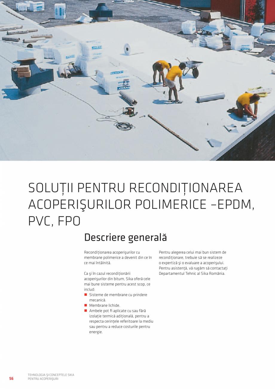Pagina 56 - Tehnologia si conceptele SIKA pentru acoperisuri  Catalog, brosura Romana puse în...
