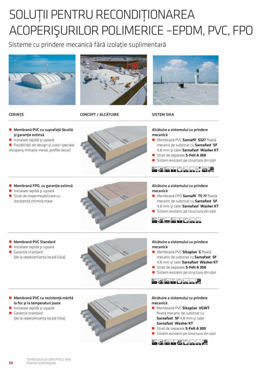 Pagina 58 - Tehnologia si conceptele SIKA pentru acoperisuri  Catalog, brosura Romana ntrol al...