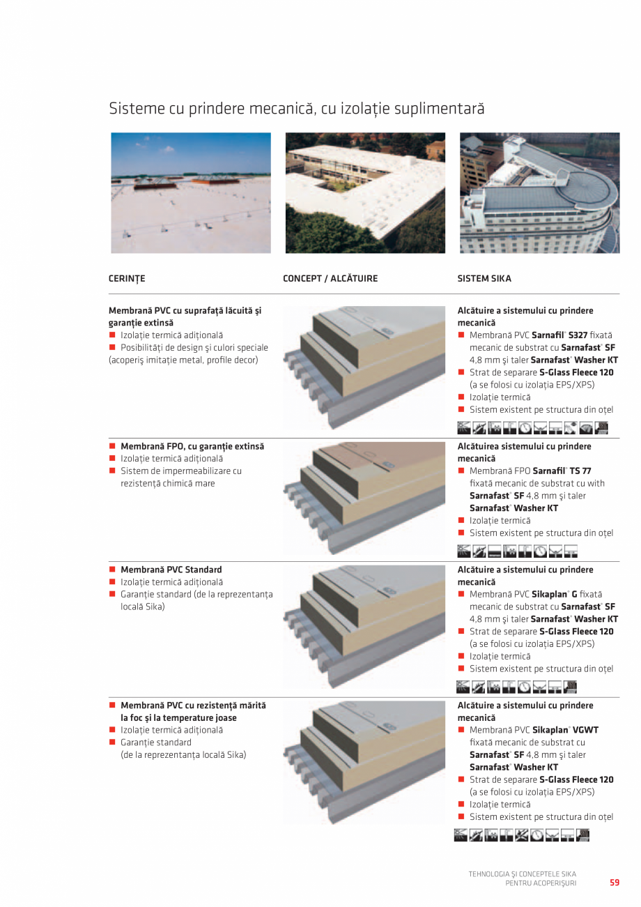 Pagina 59 - Tehnologia si conceptele SIKA pentru acoperisuri  Catalog, brosura Romana  SIKA ...