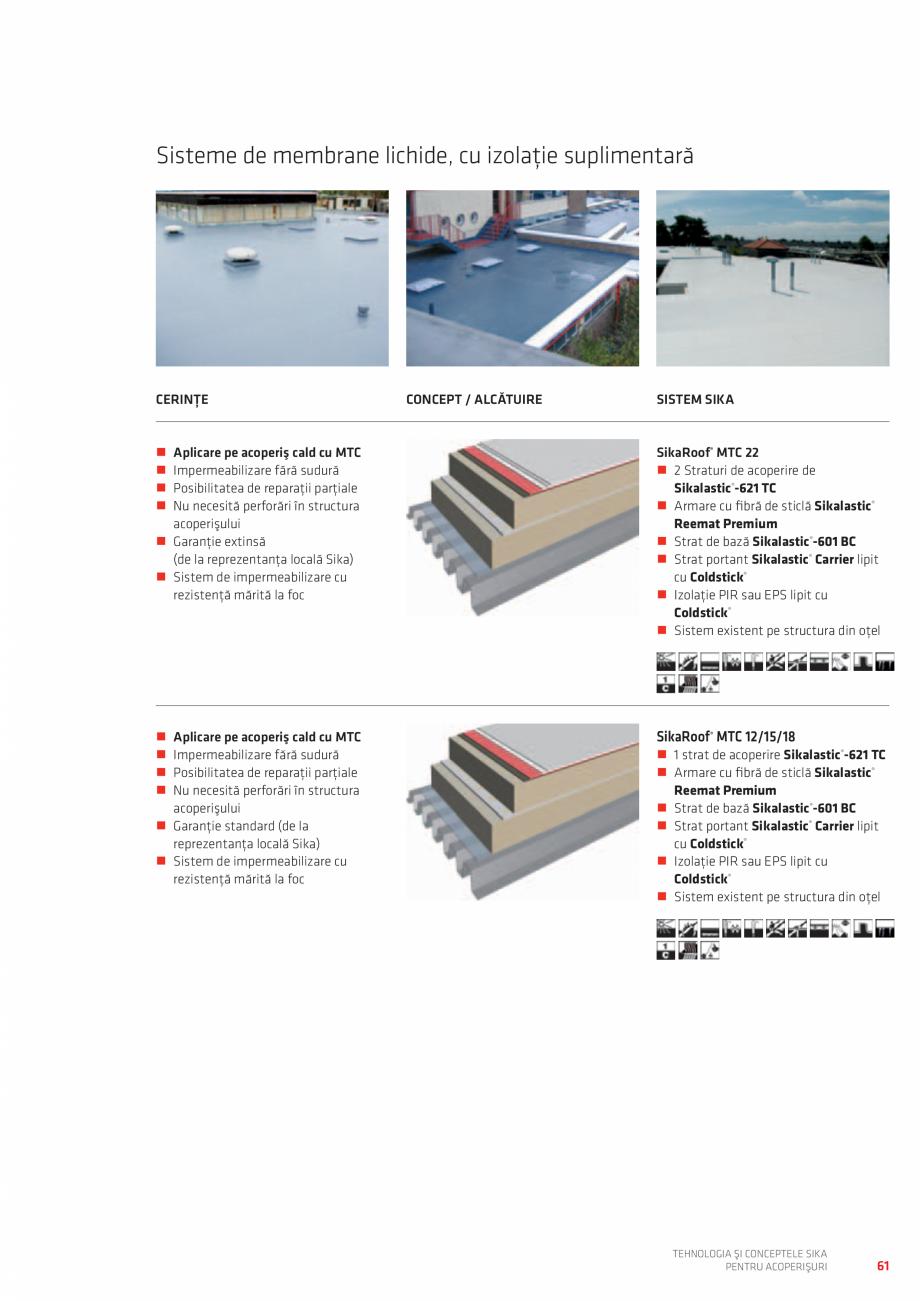 Pagina 61 - Tehnologia si conceptele SIKA pentru acoperisuri  Catalog, brosura Romana  ...