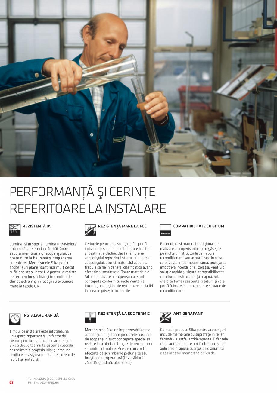 Pagina 62 - Tehnologia si conceptele SIKA pentru acoperisuri  Catalog, brosura Romana ră sudură...
