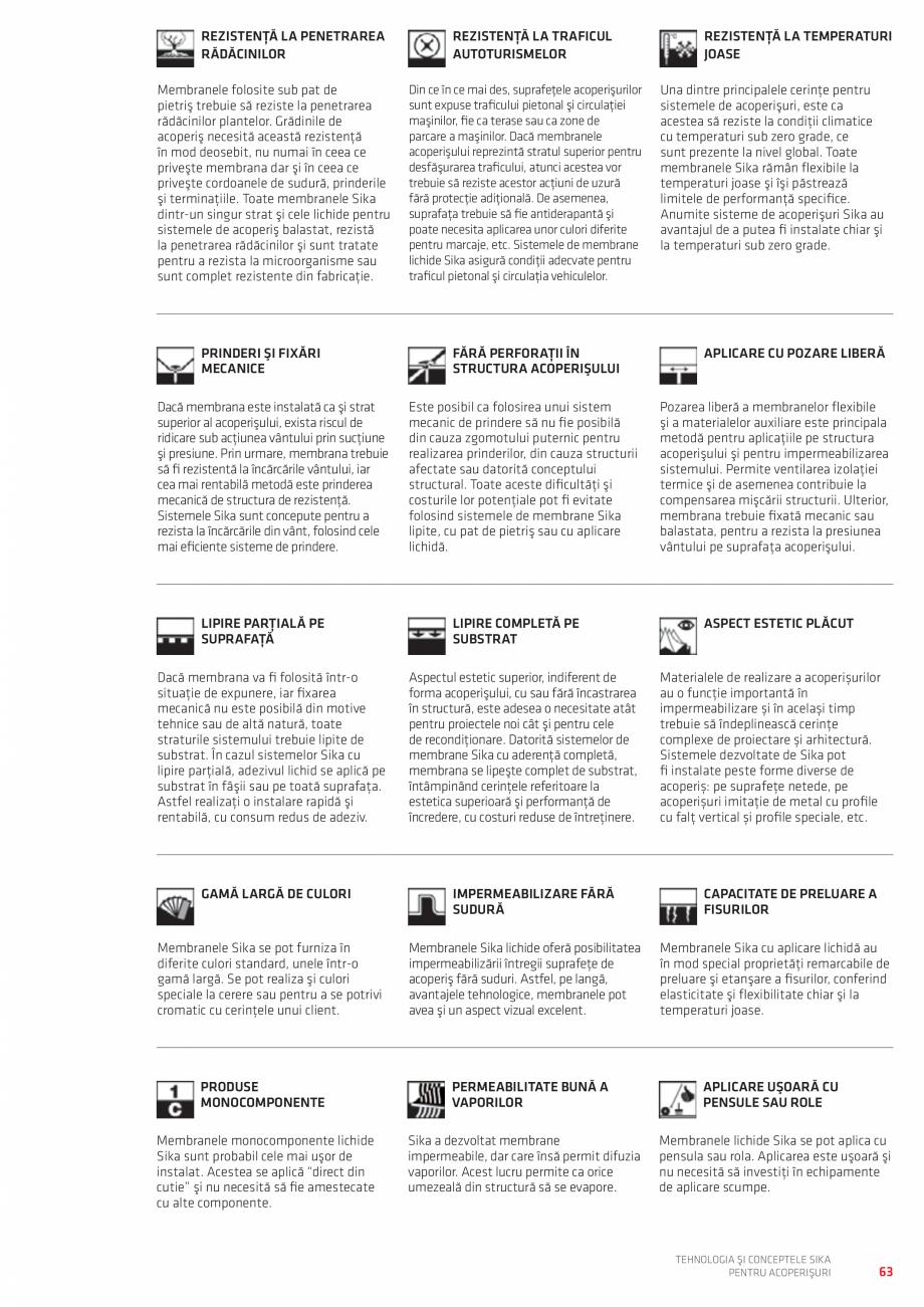 Pagina 63 - Tehnologia si conceptele SIKA pentru acoperisuri  Catalog, brosura Romana LV Strat...
