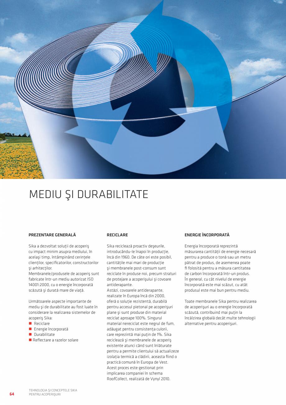 Pagina 64 - Tehnologia si conceptele SIKA pentru acoperisuri  Catalog, brosura Romana lor solare cu ...