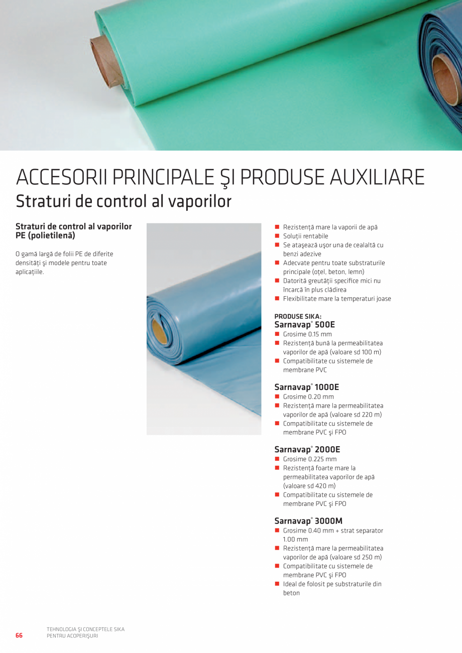 Pagina 66 - Tehnologia si conceptele SIKA pentru acoperisuri  Catalog, brosura Romana EPTE SPECIALE ...