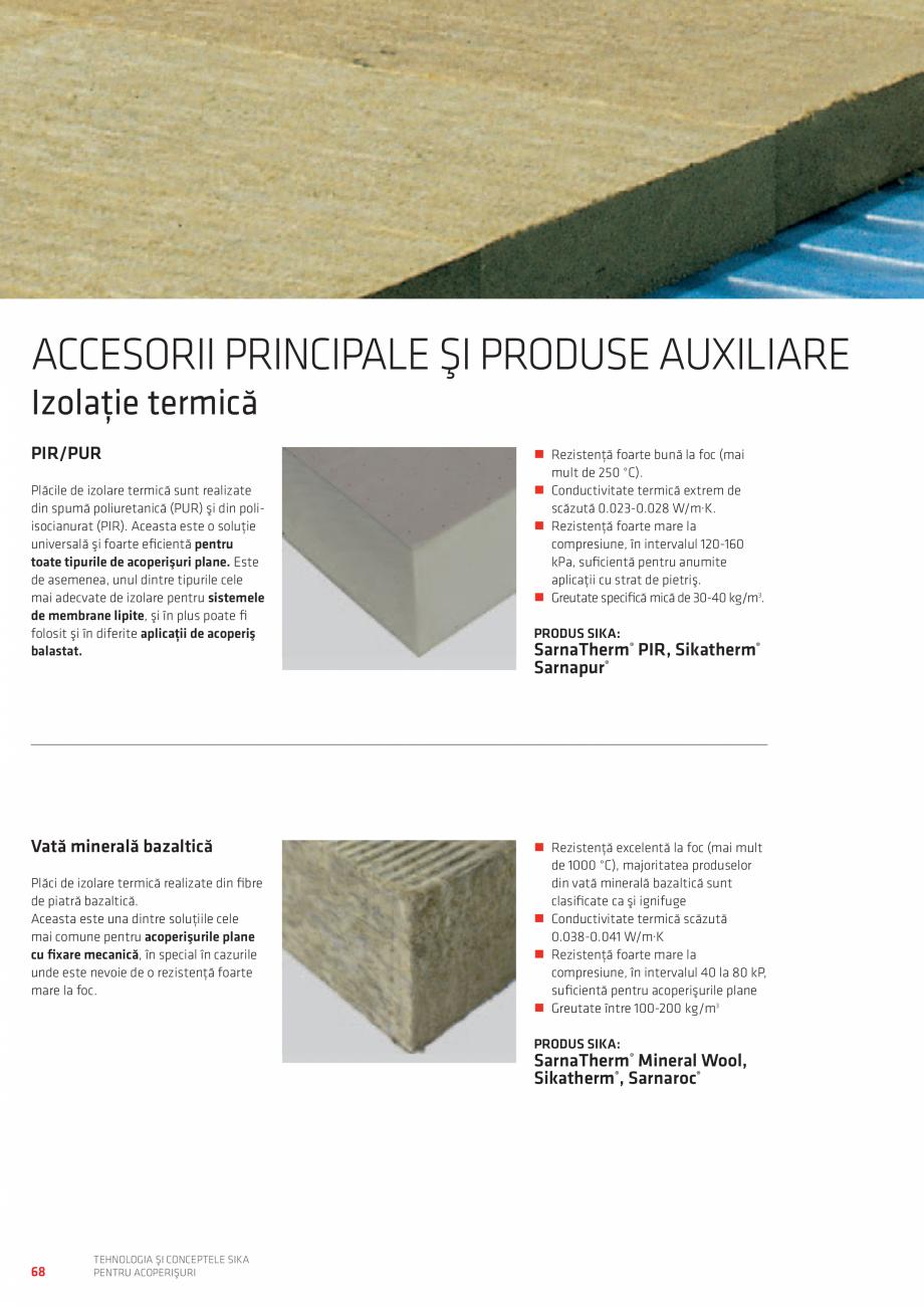 Pagina 68 - Tehnologia si conceptele SIKA pentru acoperisuri  Catalog, brosura Romana  logo-urilor...