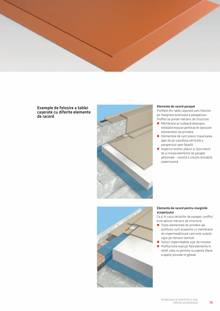 Pagina 75 - Tehnologia si conceptele SIKA pentru acoperisuri  Catalog, brosura Romana ��Sistem...