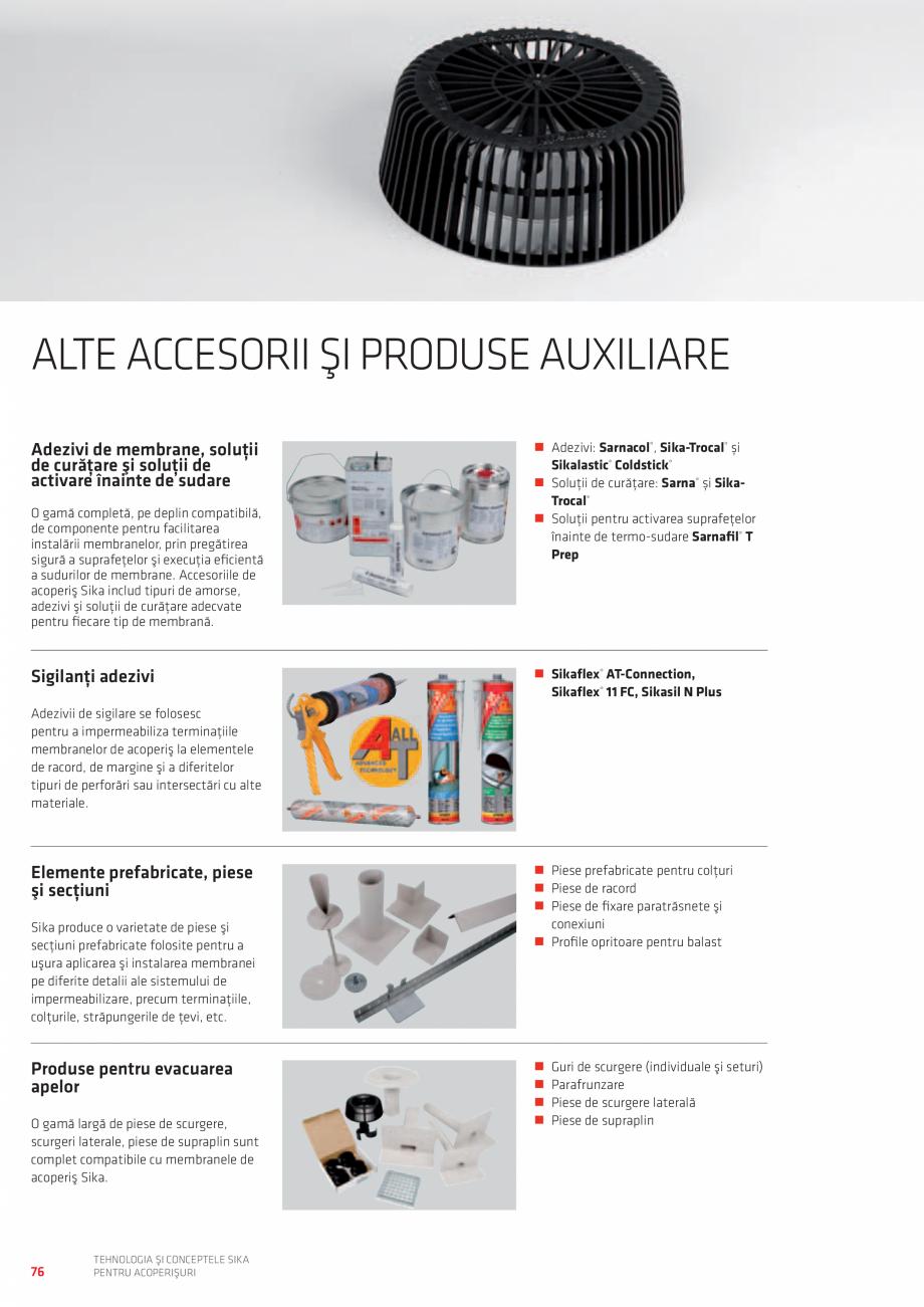Pagina 76 - Tehnologia si conceptele SIKA pentru acoperisuri  Catalog, brosura Romana şi taler...