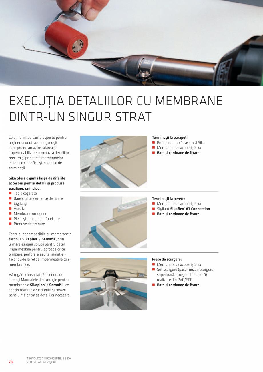 Pagina 78 - Tehnologia si conceptele SIKA pentru acoperisuri  Catalog, brosura Romana  strat de...
