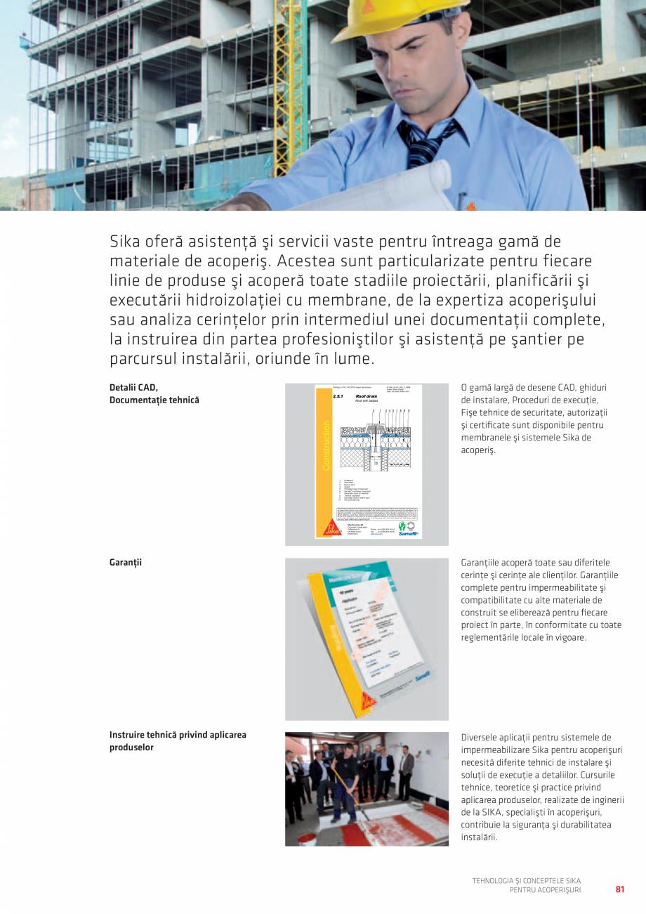 Pagina 81 - Tehnologia si conceptele SIKA pentru acoperisuri  Catalog, brosura Romana fixată...