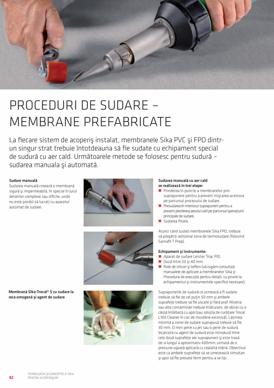 Pagina 82 - Tehnologia si conceptele SIKA pentru acoperisuri  Catalog, brosura Romana  nouă...