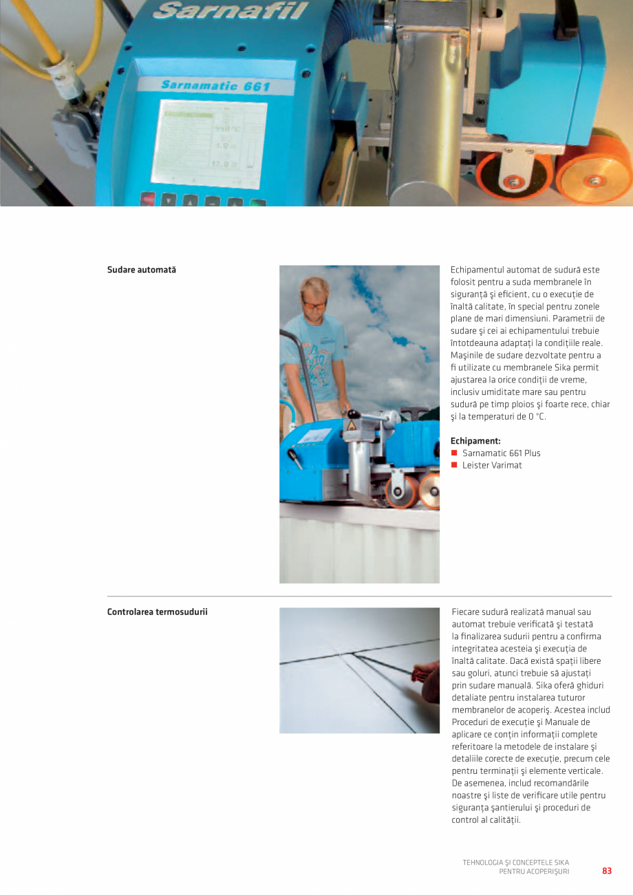 Pagina 83 - Tehnologia si conceptele SIKA pentru acoperisuri  Catalog, brosura Romana structura din ...
