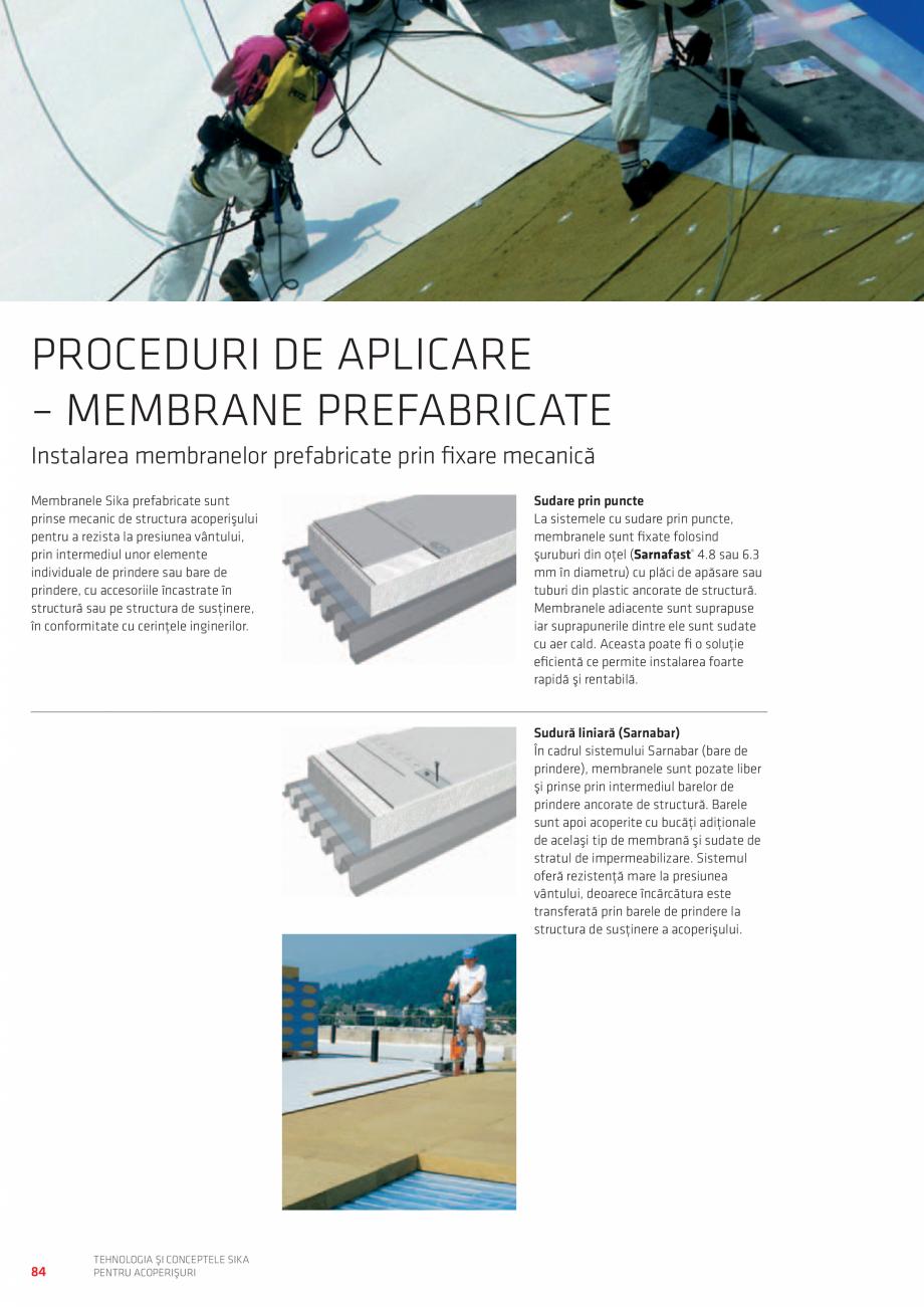 Pagina 84 - Tehnologia si conceptele SIKA pentru acoperisuri  Catalog, brosura Romana ilizare fără...