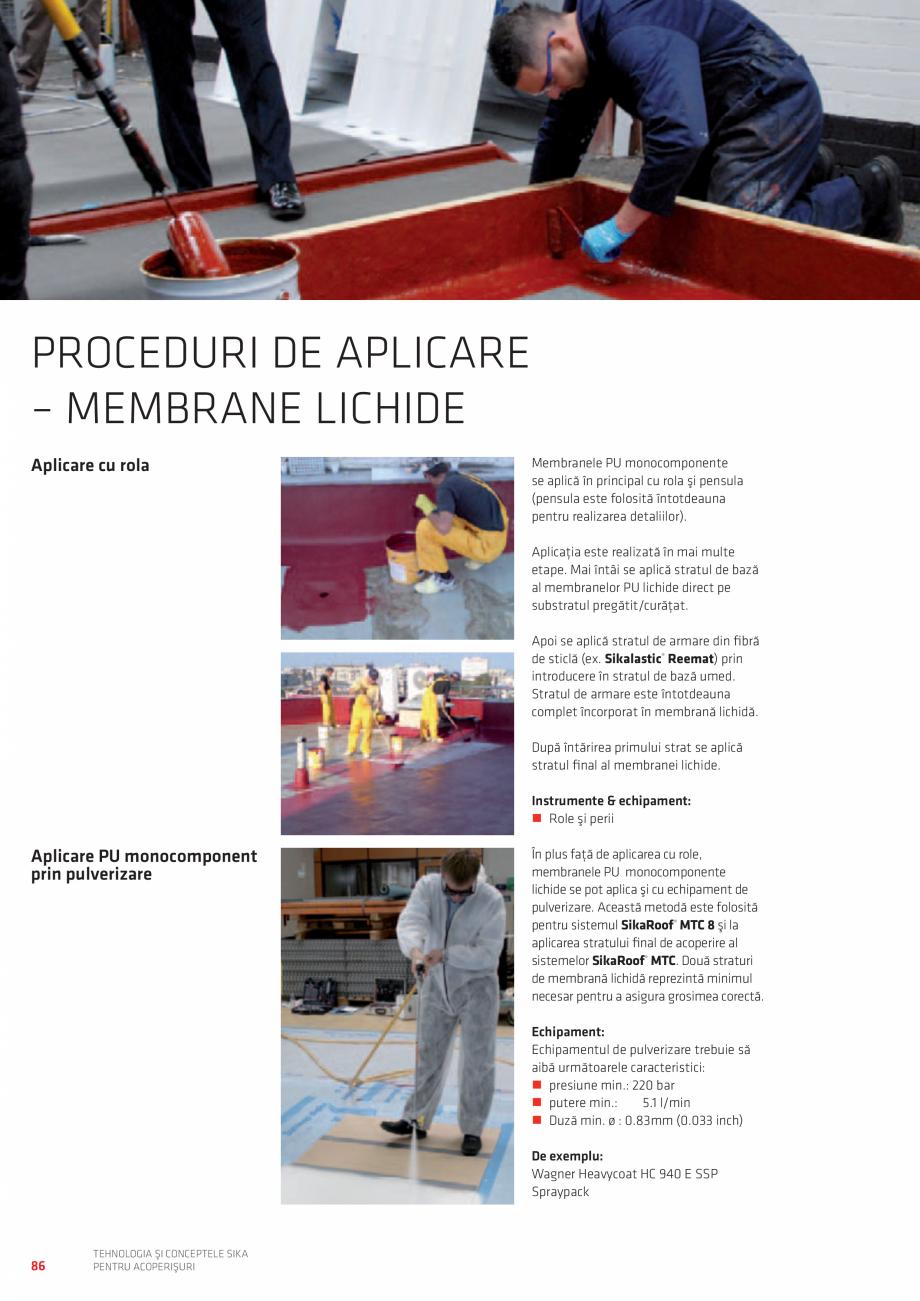 Pagina 86 - Tehnologia si conceptele SIKA pentru acoperisuri  Catalog, brosura Romana condiţionarea...