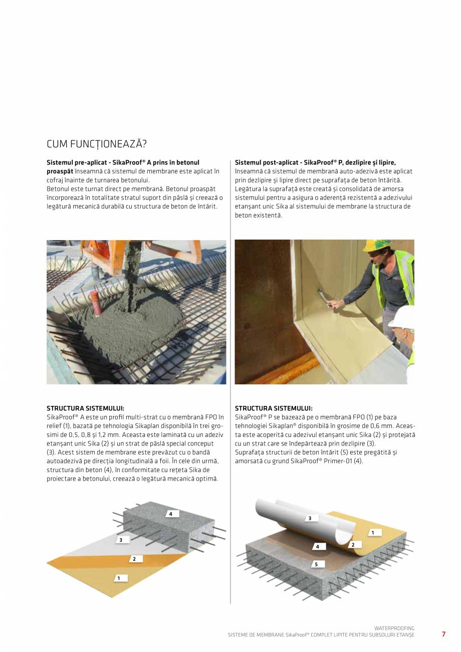 Pagina 7 - WATERPROOFING - Sisteme de membrane SikaProof® complet lipite pentru subsoluri etanse...