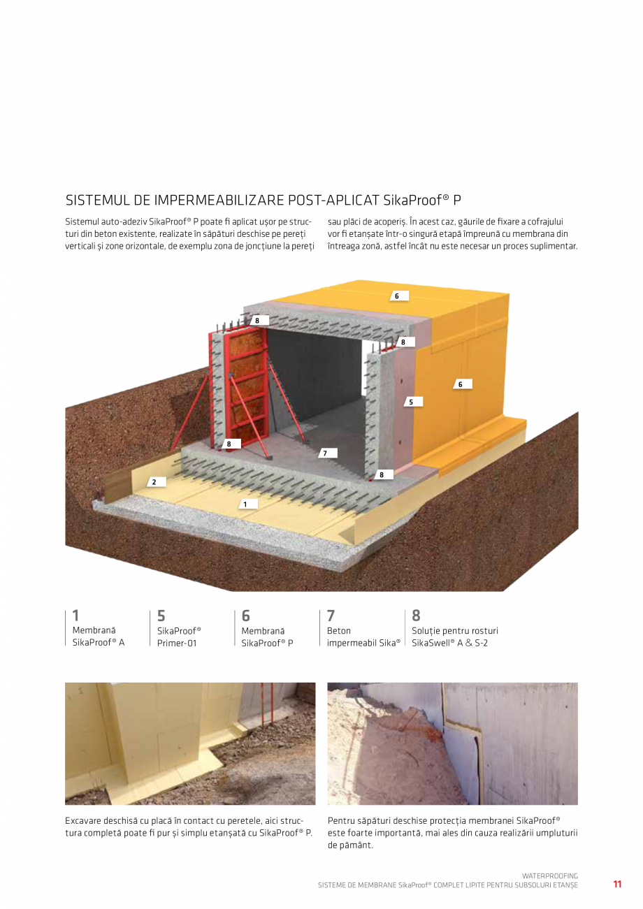 Pagina 11 - WATERPROOFING - Sisteme de membrane SikaProof® complet lipite pentru subsoluri...