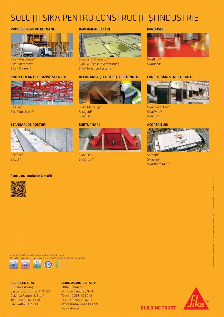 Pagina 16 - WATERPROOFING - Sisteme de membrane SikaProof® complet lipite pentru subsoluri...