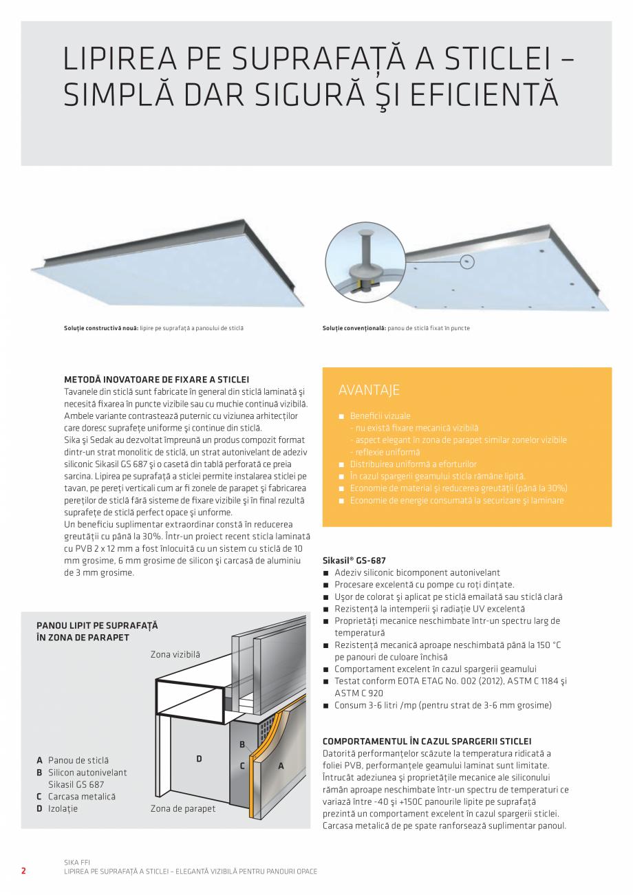 Pagina 2 - Lipirea pe suprafata a sticlei - Eleganta vizibila pentru panouri opace  Catalog, brosura...