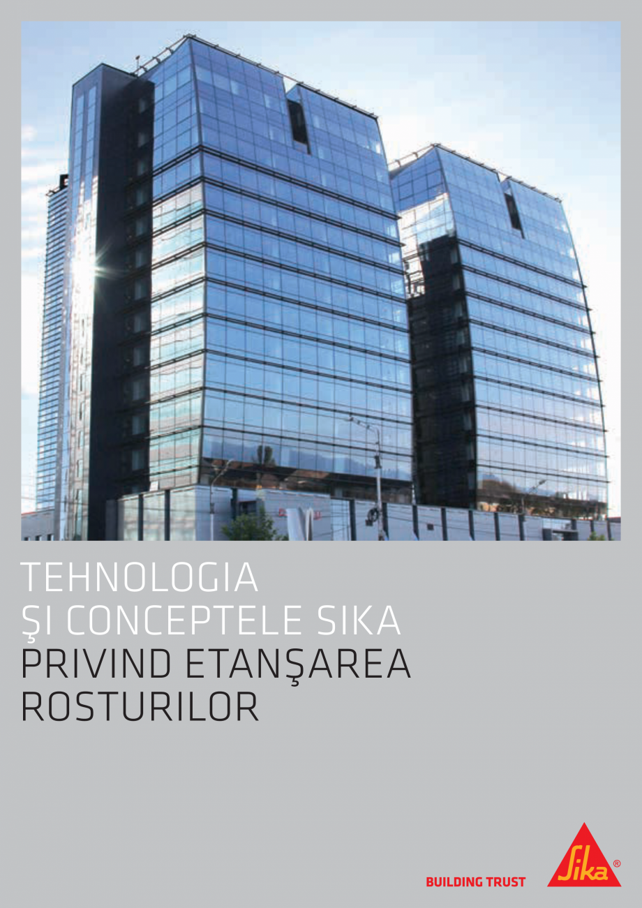 Pagina 1 - Tehnologia si Conceptele Sika privind etansarea rosturilor  Catalog, brosura Romana...