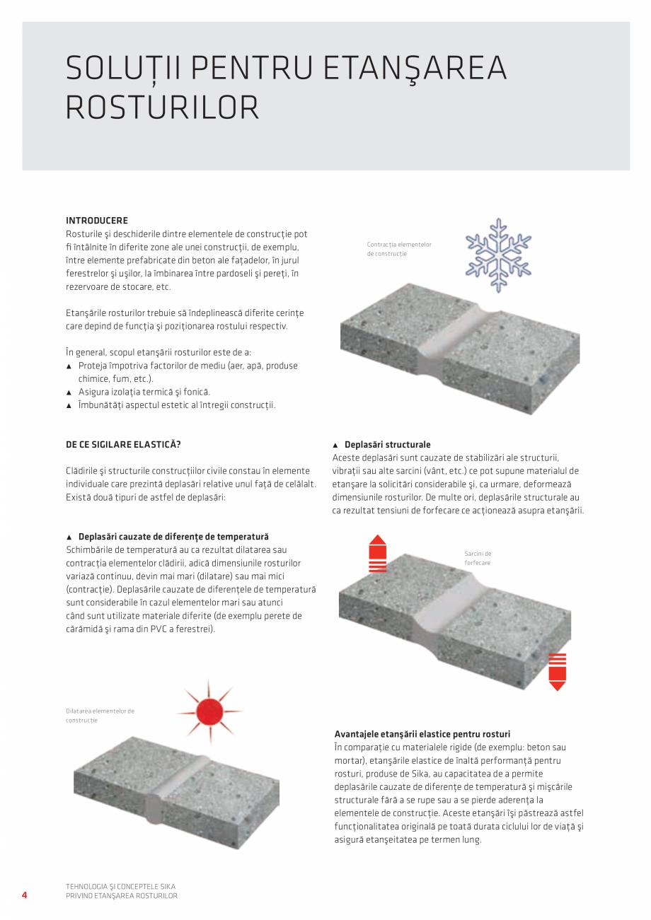 Pagina 4 - Tehnologia si Conceptele Sika privind etansarea rosturilor  Catalog, brosura Romana relor...