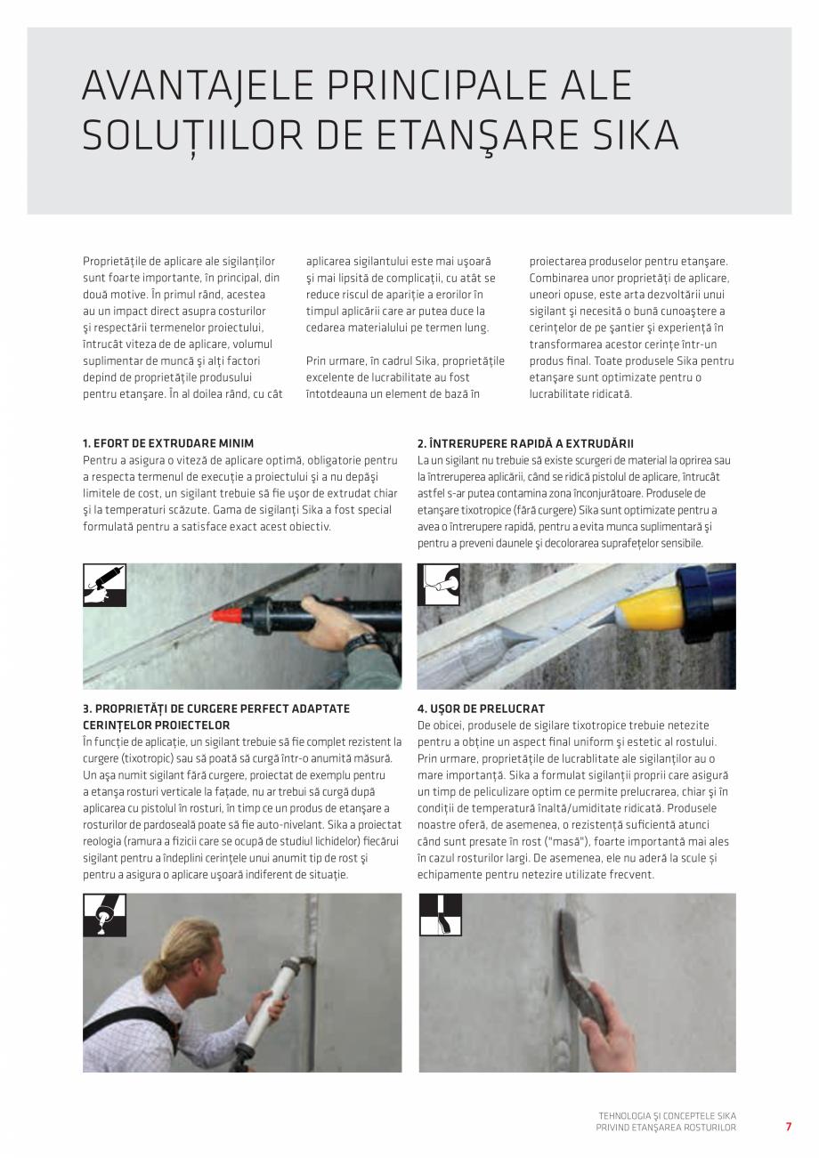 Pagina 7 - Tehnologia si Conceptele Sika privind etansarea rosturilor  Catalog, brosura Romana igura...