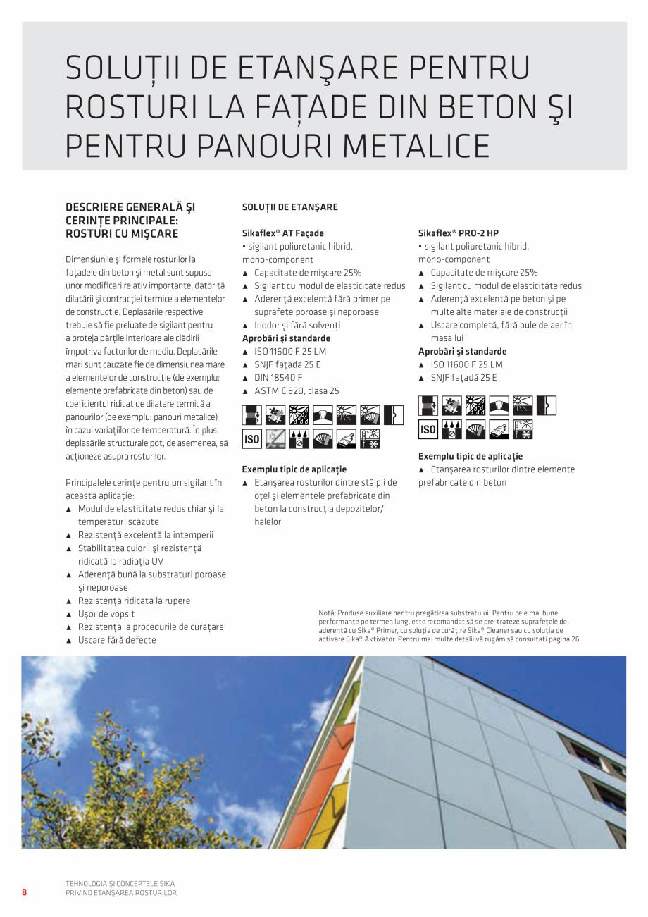 Pagina 8 - Tehnologia si Conceptele Sika privind etansarea rosturilor  Catalog, brosura Romana şi...