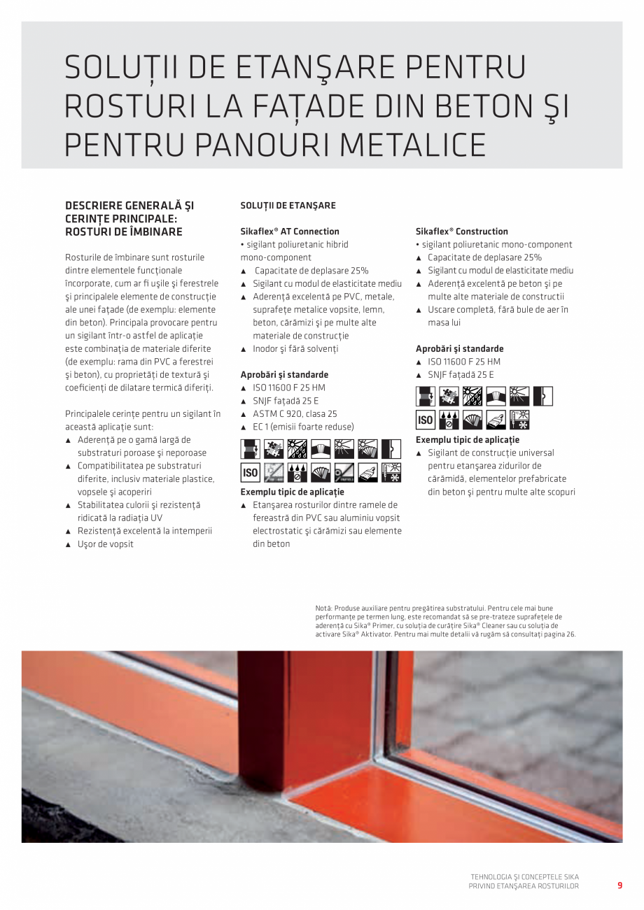Pagina 9 - Tehnologia si Conceptele Sika privind etansarea rosturilor  Catalog, brosura Romana...