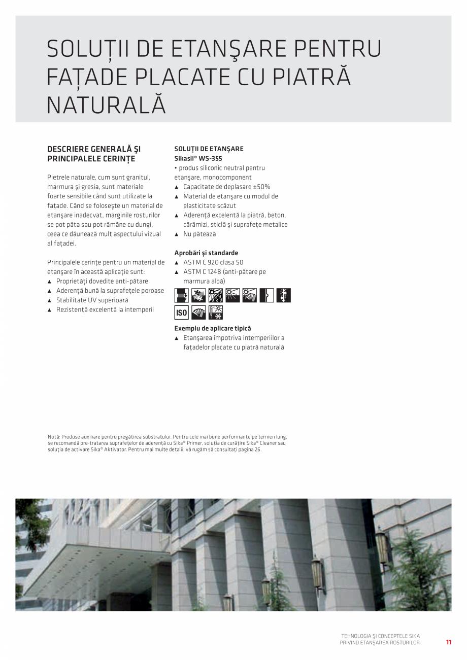 Pagina 11 - Tehnologia si Conceptele Sika privind etansarea rosturilor  Catalog, brosura Romana...