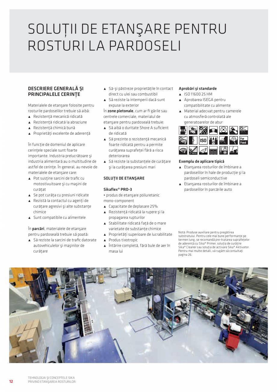 Pagina 12 - Tehnologia si Conceptele Sika privind etansarea rosturilor  Catalog, brosura Romana lor ...