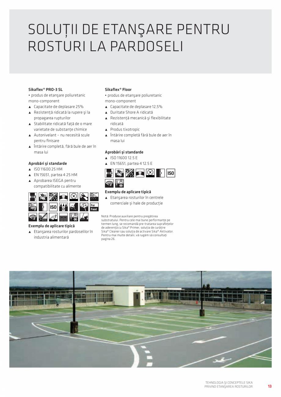 Pagina 13 - Tehnologia si Conceptele Sika privind etansarea rosturilor  Catalog, brosura Romana ...