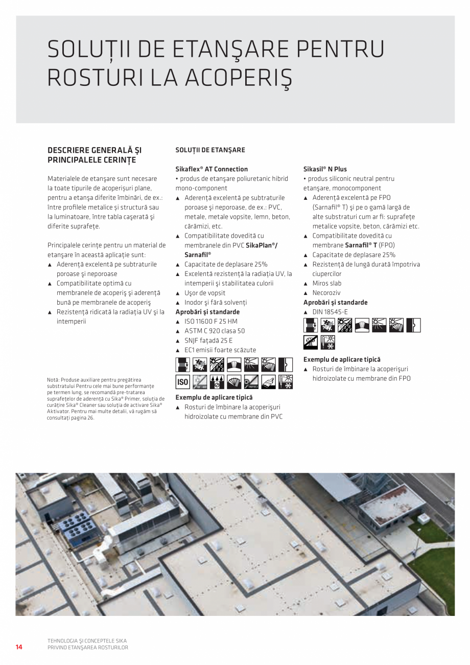 Pagina 14 - Tehnologia si Conceptele Sika privind etansarea rosturilor  Catalog, brosura Romana...