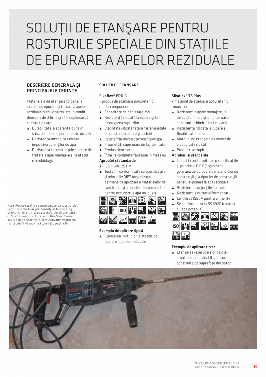 Pagina 15 - Tehnologia si Conceptele Sika privind etansarea rosturilor  Catalog, brosura Romana e...