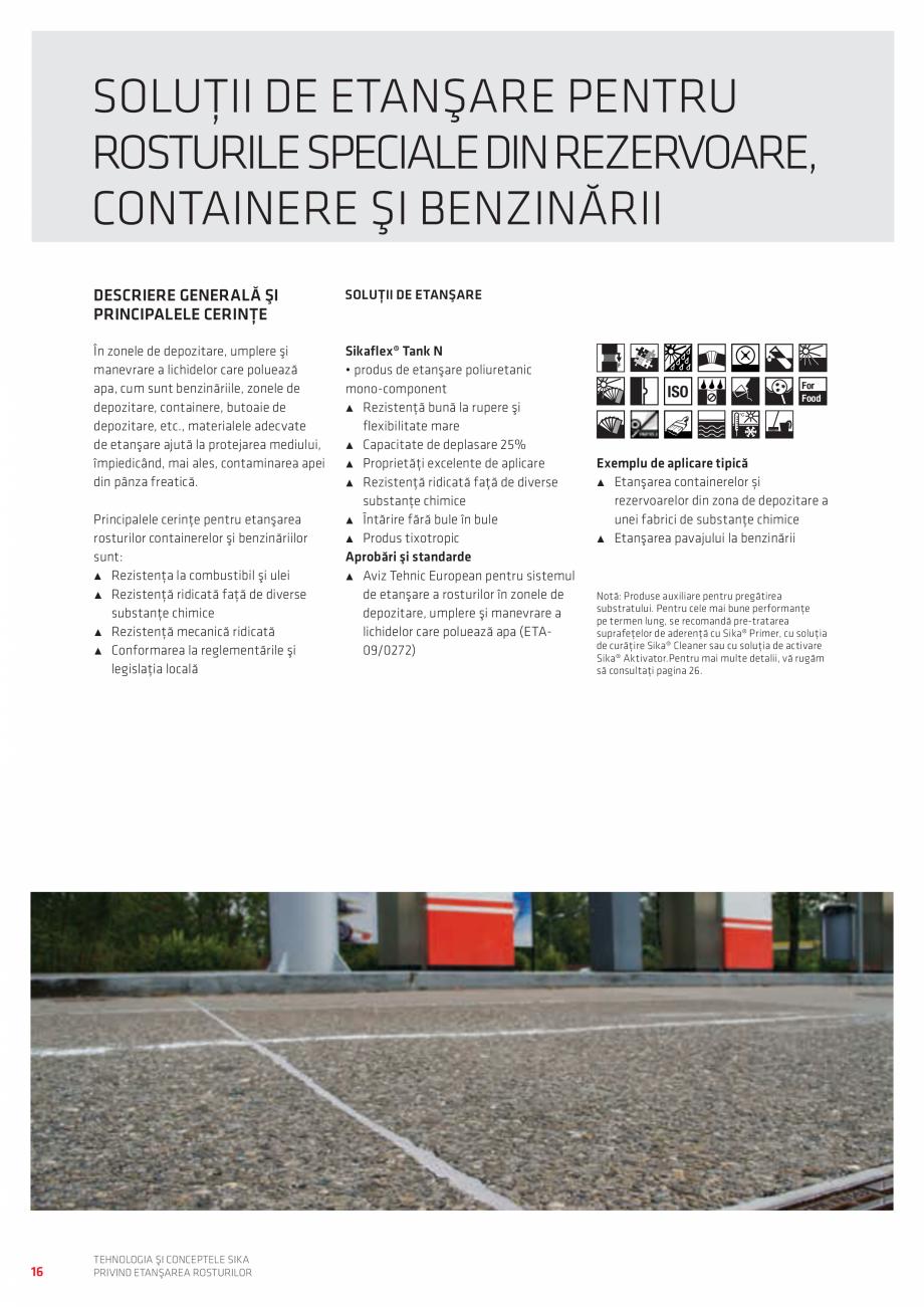Pagina 16 - Tehnologia si Conceptele Sika privind etansarea rosturilor  Catalog, brosura Romana ant ...