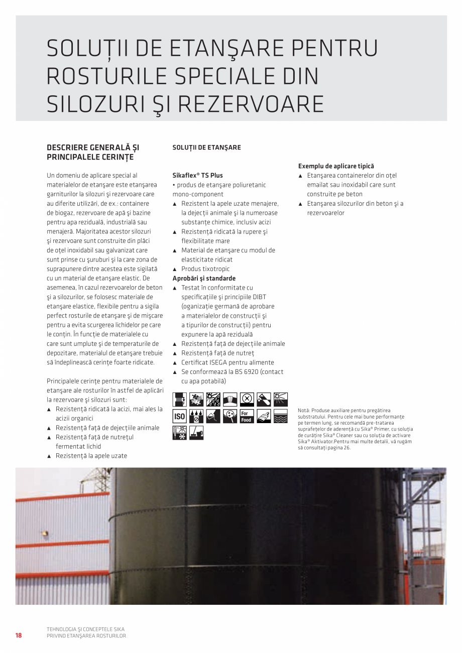Pagina 18 - Tehnologia si Conceptele Sika privind etansarea rosturilor  Catalog, brosura Romana...