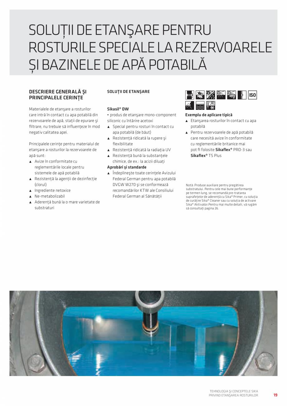 Pagina 19 - Tehnologia si Conceptele Sika privind etansarea rosturilor  Catalog, brosura Romana tale...