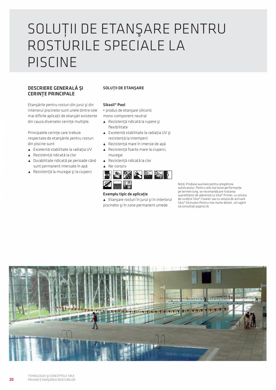 Pagina 20 - Tehnologia si Conceptele Sika privind etansarea rosturilor  Catalog, brosura Romana...