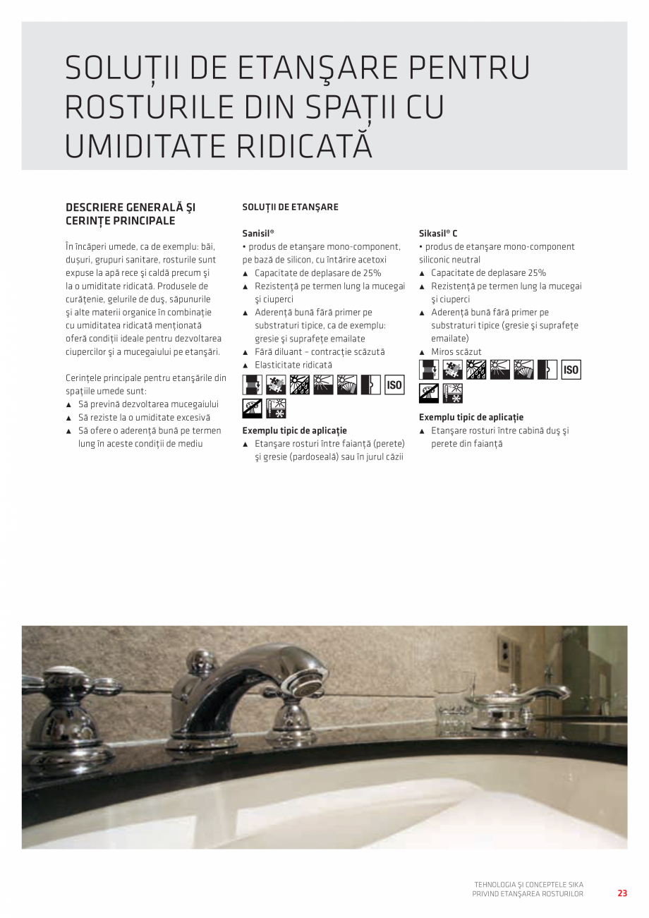 Pagina 23 - Tehnologia si Conceptele Sika privind etansarea rosturilor  Catalog, brosura Romana...