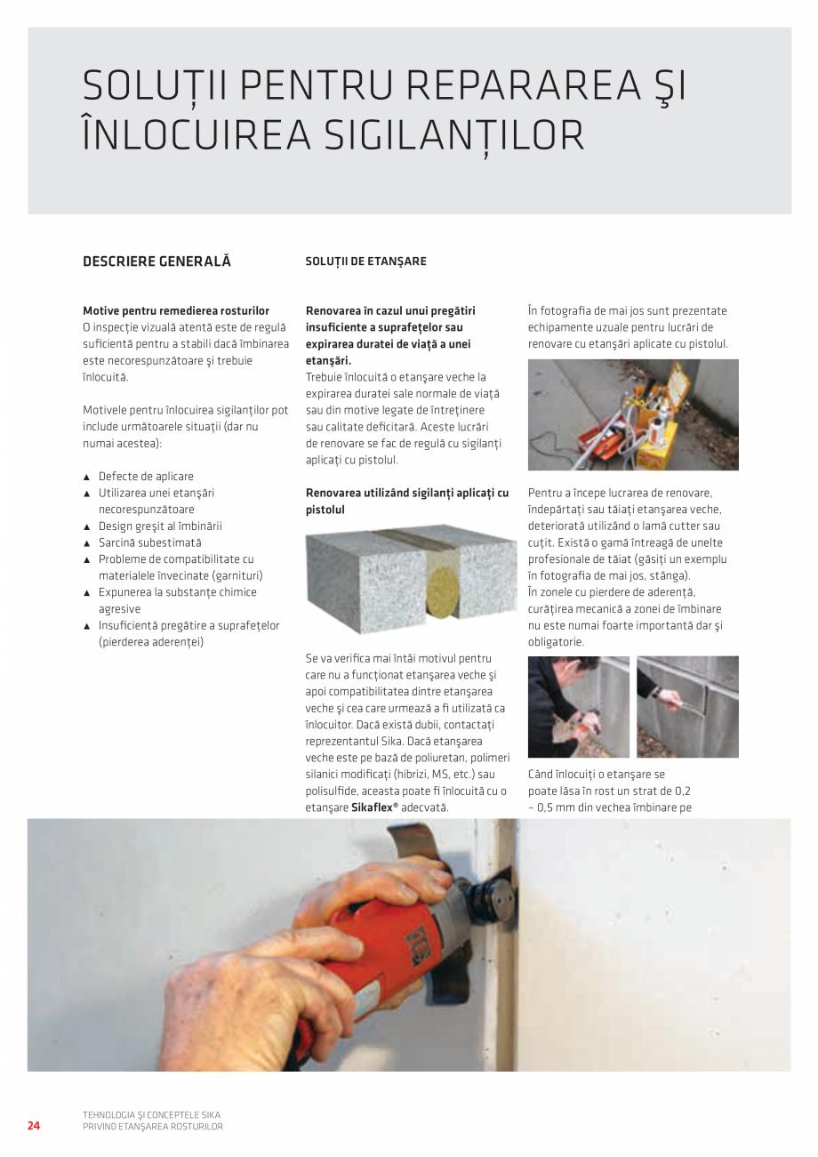 Pagina 24 - Tehnologia si Conceptele Sika privind etansarea rosturilor  Catalog, brosura Romana în ...