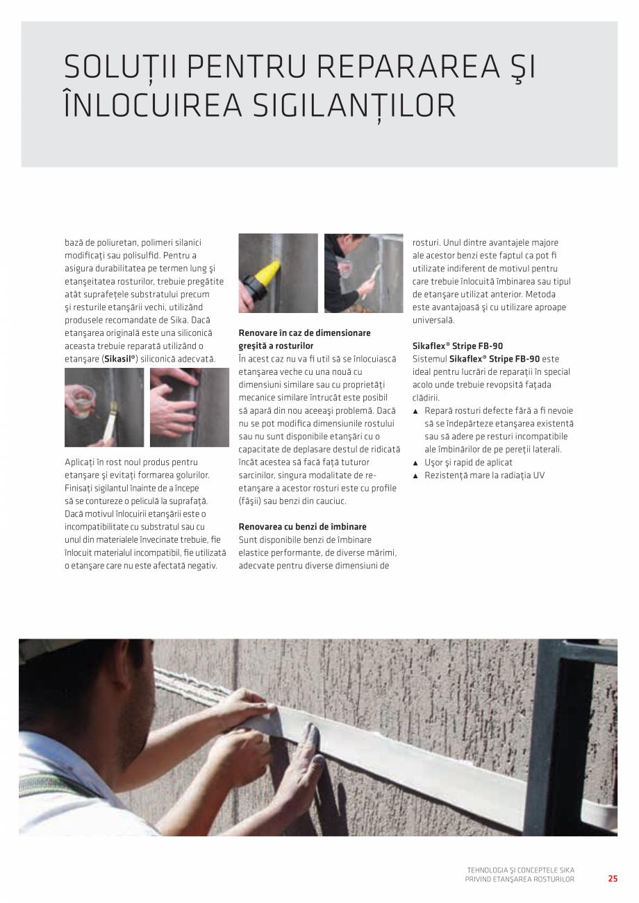 Pagina 25 - Tehnologia si Conceptele Sika privind etansarea rosturilor  Catalog, brosura Romana ă...
